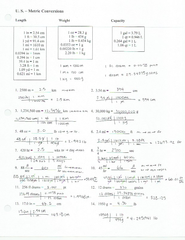 Worksheet Dimensional Analysis Worksheet Answers unit 1 ms huangs chemistry website download file